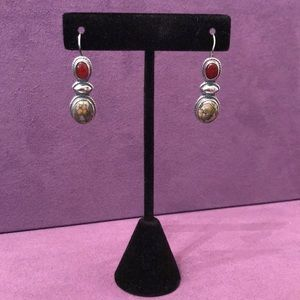 Sterling Silver Stone Earrings